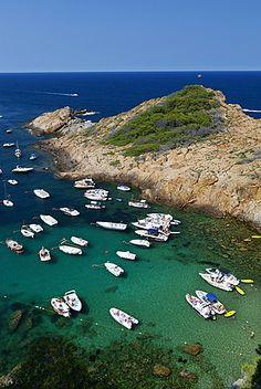 Cove of Sa Tuna, Begur, Costa Brava, Catalonia. EU
