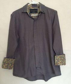 English Laundry Scott Weiland The Collection Shirt Medium Gray Long Sleeves Mens #EnglishLaundry #Buttondown
