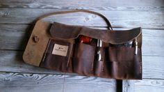 Rustic Leather Pipe Roll Handmade