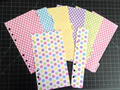 Pastel Polka Dot Set of 6 Tabbed Dividers by MyPlannerAddiction, $16.00