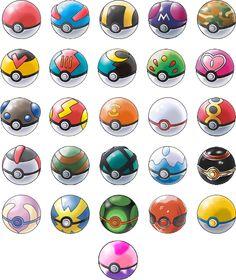 Tipos de pokeballs :D :3