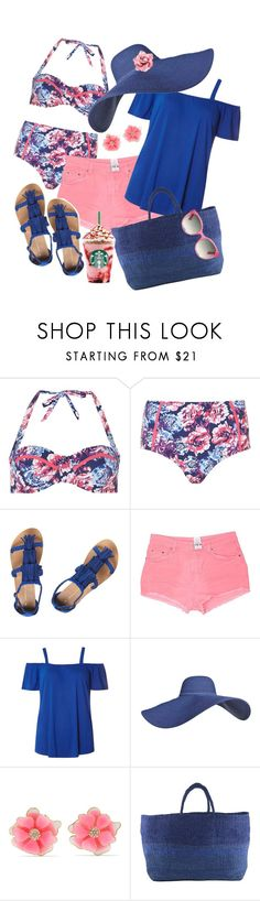 """""""Pink and Blue"""" by dobesht ❤ liked on Polyvore featuring Dorothy Perkins, Carmar, Kenneth Jay Lane, Far + Wide Collective and Gucci"""