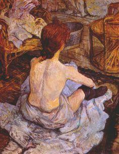 Woman at her Toilette, henri de Toulouse-Lautrec