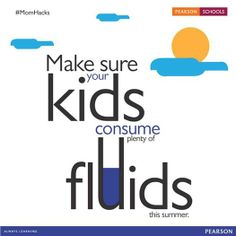 Kids often don't drink enough to replenish the fluids they lose during prolonged activity since they're too busy having fun.  Share more such tips to keep kids hydrated while playing outdoors in the heat.