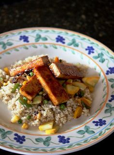 Kitchen Grrrls.: Lime Rickey Tofu over Quinoa and Veggies {Everyday with Rachael Ray Gone Vegan}