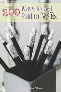 200 Ways To Get Paid To Write | Freelance writing is one of the most popular jobs from home. Check out this post with a ton of ideas on how to get paid to write.