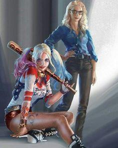 harley quinn, DC, and joker image Der Joker, Harley Quinn Comic, Joker And Harley Quinn, Héros Dc Comics, Comics Girls, Comic Art Girls, Heroine Marvel, Marvel Dc, Danger Girl