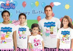 Hey, I found this really awesome Etsy listing at https://www.etsy.com/listing/281443908/peppa-pig-birthday-shirtpeppa-family