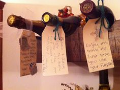 Wine Bottle Tags- Cute Bridal Shower idea- all Bridesmaids write on a tag to tell the Bride & Groom when to Open the Bottle of Wine as NewlyWeds!