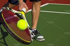 Outdoor tennis on new court. Sports Photos