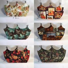 Changeable Fall Purse Covers, Purse Covers, Bag Covers, Fall Purse Covers, Changeable Purse Covers by PamsBeadedTreasure on Etsy