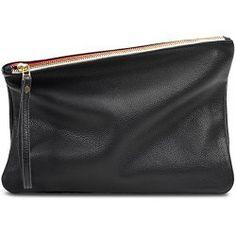Leah Lerner Women Clutch Handbag Italian leather $85.00