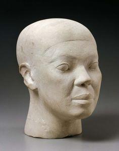 """Reserve head"" | Egyptian Old Kingdom, Dynasty 4, reigns of Khufu to Khafra 2551–2494 B.C. | 30 x 21 x 26 cm | Museum of Fine Arts, Boston"