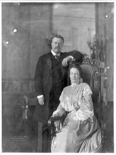 Theodore Roosevelt and First Lady Edith Kermit Carow Roosevelt c. 1908