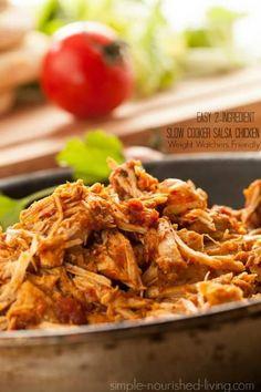 slow cooke salsa chicken 2 smart points