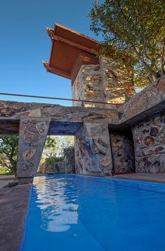 One of the best tours I've ever experienced.  Many great home ideas. Taliesin West, Frank Lloyd Wright's home in Scottsdale, Arizona. - John and Jean Strother