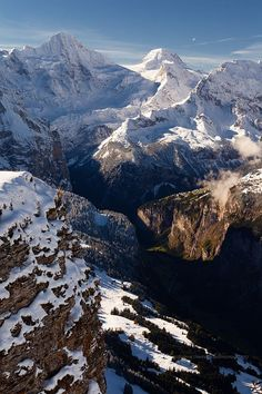 View from Männlichen, Berner Oberland... I want to see this in winter