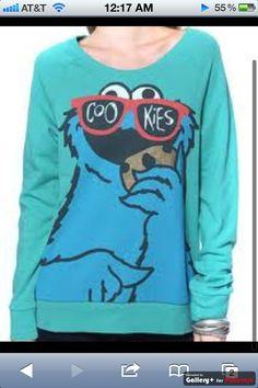 cute cookie monster shirt