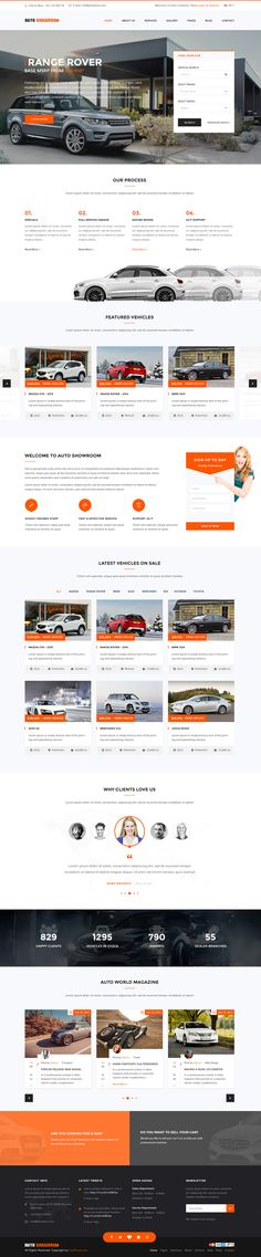Auto Showroom - Car Dealership WordPress Theme #css3 #html5 #responsivedesign #uidesign #userexperience #wordpressthemes