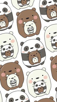 oodon - Gudetama x We Bare Bears Wallpaper Cute Panda Wallpaper, Cartoon Wallpaper Iphone, Bear Wallpaper, Cute Patterns Wallpaper, Cute Disney Wallpaper, Kawaii Wallpaper, Cute Wallpaper Backgrounds, Disney Phone Backgrounds, We Bare Bears Wallpapers