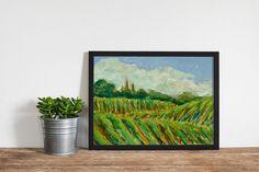 """Acrylic Print: """"Sonoma, Imagined"""" by Katrina Hendrix, California art, wine country art by KatrinaHendrixArt on Etsy"""