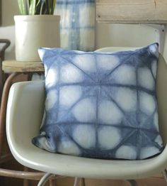 Gorgeous! :: Shibori Circles Indigo Dyed Pillow by Juniper & Fir
