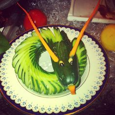 Photo by @vanilize. A Cucumber Dragon was just one way our culinary staff showcased their talents at #CafeSierra #ValentineDay #Buffet.  http://bizo.me/nLaan
