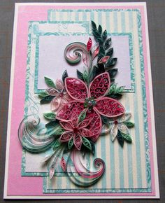 Quilled card instruction sheet by HeirloomQuilling on Etsy