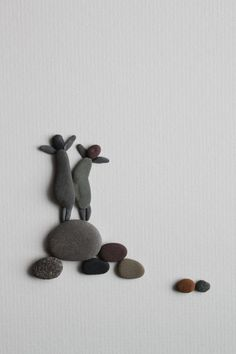 loving all her pebble art (similar to what i saw on grand manan)