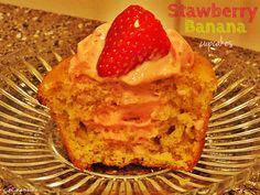 Stawberry Banana cupcakes by cupcake-n-bake