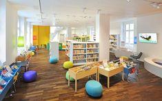GGG City Library, Basel, Switzerland Photo: © Lilli Kehl, Basel, Switzerland Interior Design And Space Planning, City Library, Drupal, Basel, Switzerland, Corner Desk, Architecture, Furniture, Home Decor