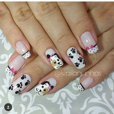 Animal Nail Designs, Short Nail Designs, Nail Designs Spring, Toe Nail Designs, Cute Nail Art, Easy Nail Art, Cute Nails, Pretty Nails, Nails To Go