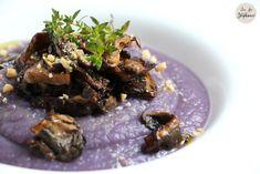 Velouté de pommes de terre vitelote et poêlée de cèpes, un plat tout simple, mais qui fait son effet! - La Fée Stéphanie