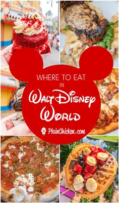 Where to Eat at Walt Disney World - cupcakes, pizza, breakfast waffles and THE BEST steak EVER! You don't want to miss this post. You need to add these places to your list for your next Walt Disney World Trip! #disney #wdw #waltdisneyworld
