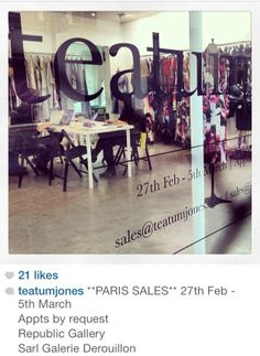 Working Hard @Teatum Jones showroom- Paris