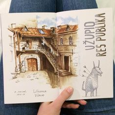 Vilnius the Artists District. Interior Design Architecture and Travel Journals Drawings. By Ekaterina Surikat.