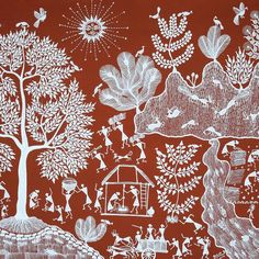 Warli - Family Buy/Sell paintings and Art prints online at www.abstract4life.com  Find Art work that matches your style.  Rich collection of paintings and sketches.