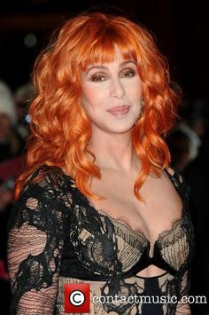 Love this color on Cher! Cher red-orange hair at the Burlesque UK Premiere Burlesque, Red Orange Hair, Cher Photos, Cher Bono, Musical, Her Music, My Idol, Celebrity Style, Beautiful Women