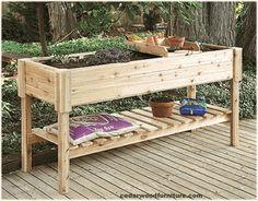 Raised garden planter for under kitchen window for herbs