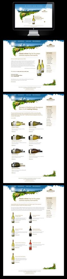 http://www.behance.net/gallery/MontanaBrancott-Wines/763144 #drinks #wine #brush