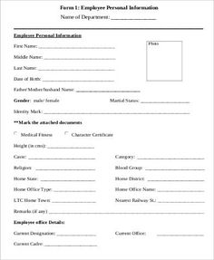 Employee Performance Evaluation Form  Paperwork