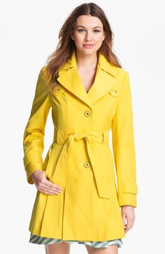 Via Spiga Pleated Trench Coat available at Nordstrom