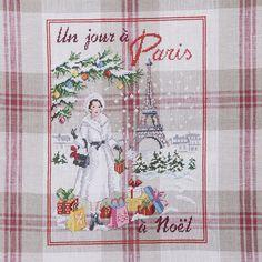 Un jour a Paris a Noel. Схема вышивки крестиком.