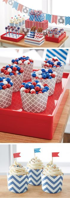 Patriotic parties put together in a flash with our Gift Packaging Collections!