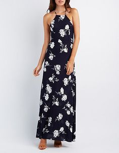 Floral Strappy Maxi Dress: Charlotte Russe