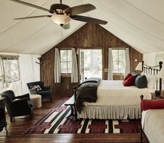 Family glamping tents at The Ranch at Rock Creek. A bucket list-must for the adventurous family.  Photo and story by Captain and the Gypsy Kid