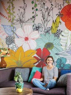 Deco: ni una pared blanca - En esta casa el color, los murales y los empapelados de diseño propio dan vida a cada uno de los ambientes - Revista OHLALÁ!