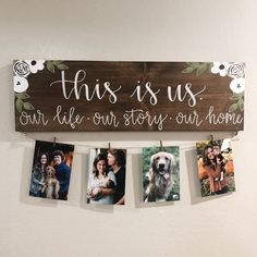This Is Us Stained Solid Wood Sign with Photos DIY Wood Signs Photos Sign solid Stained Wood Diy Crafts Home, Wood Crafts, Wood Board Crafts, Decor Crafts, Diy Wood Signs, Rustic Wood Signs, Paint Wood Signs, Country Wood Signs, Primitive Wood Signs