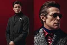 """Her latest show entitled """"a parody of male power"""", Miuccia Prada did a very profound character study including a handful of Hollywood elite like Gary Oldman, Adrien Brody, Willem Dafoe, Jamie Bell and Tim Roth."""