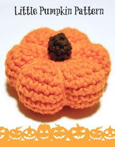 Fun crochet pattern to make these cute little pumpkins .., and free too!